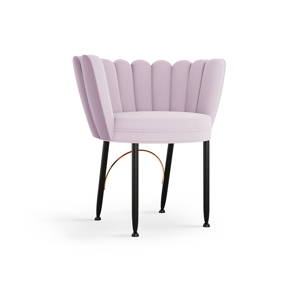 Angel Mid-Century Dining Chair in cassis cotton velvet