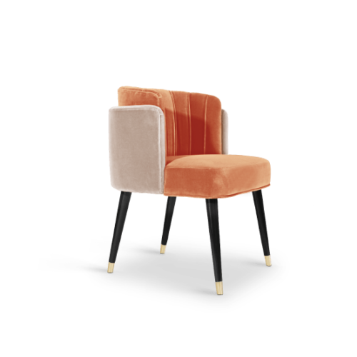 Anita Dining Chair in Cotton Velvet