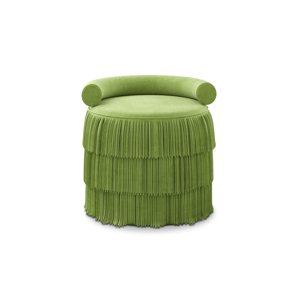 Green Beth Fringes Stool