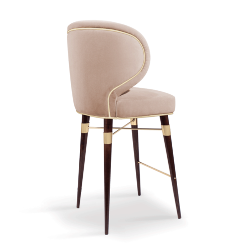 Louis Mid-Century Modern Bar Chair
