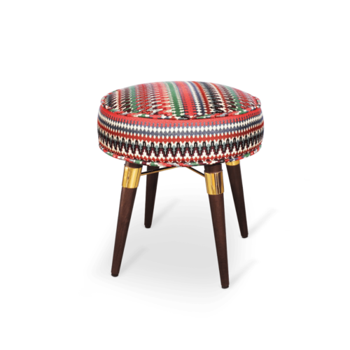 Louis Stool in cotton velvet