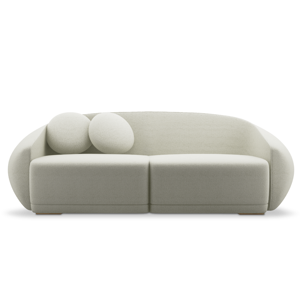 Peggy Sofa in white Bouclé fabric