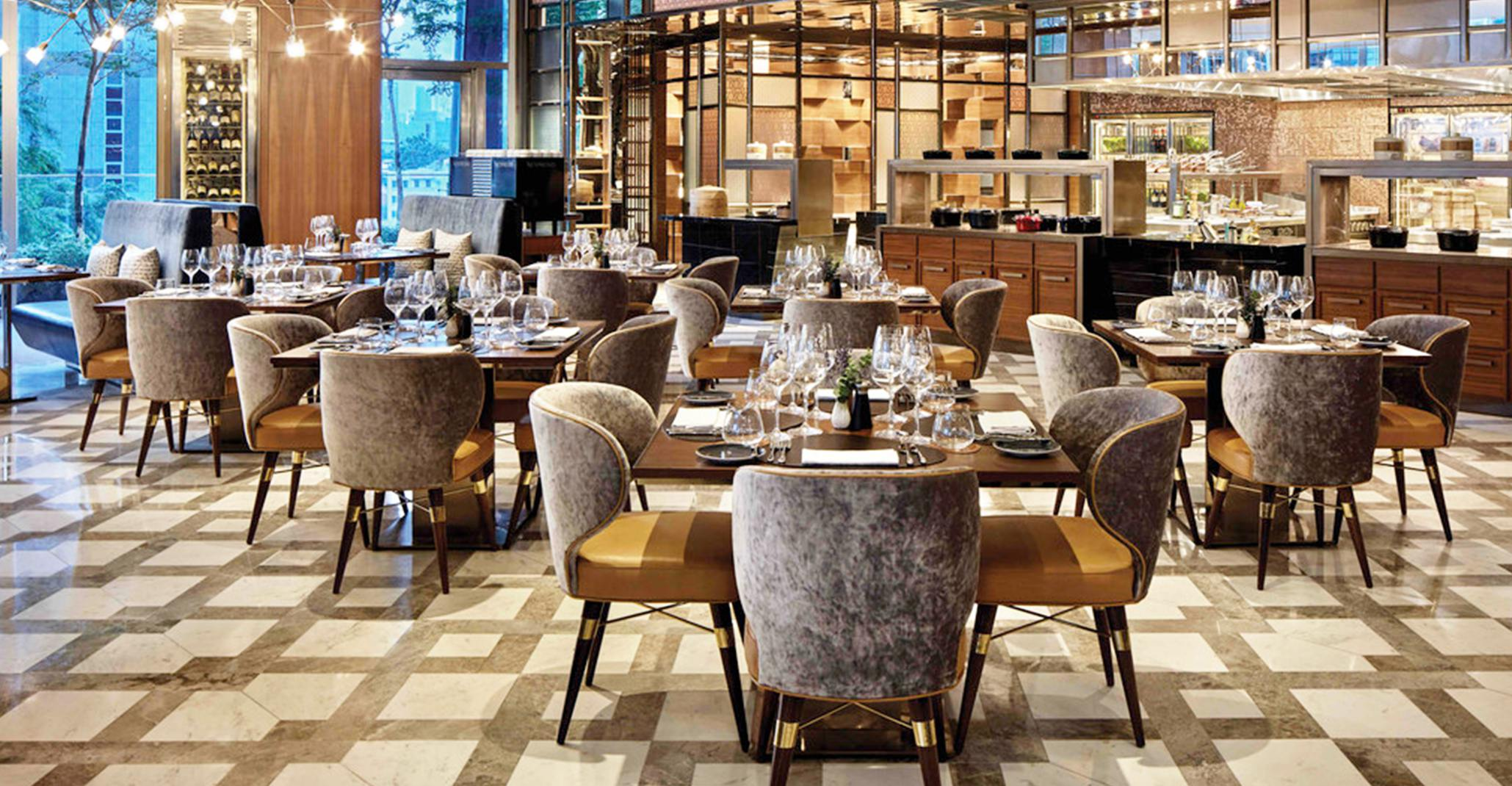 Racines Restaurant with Louis Dining chair by Ottiu