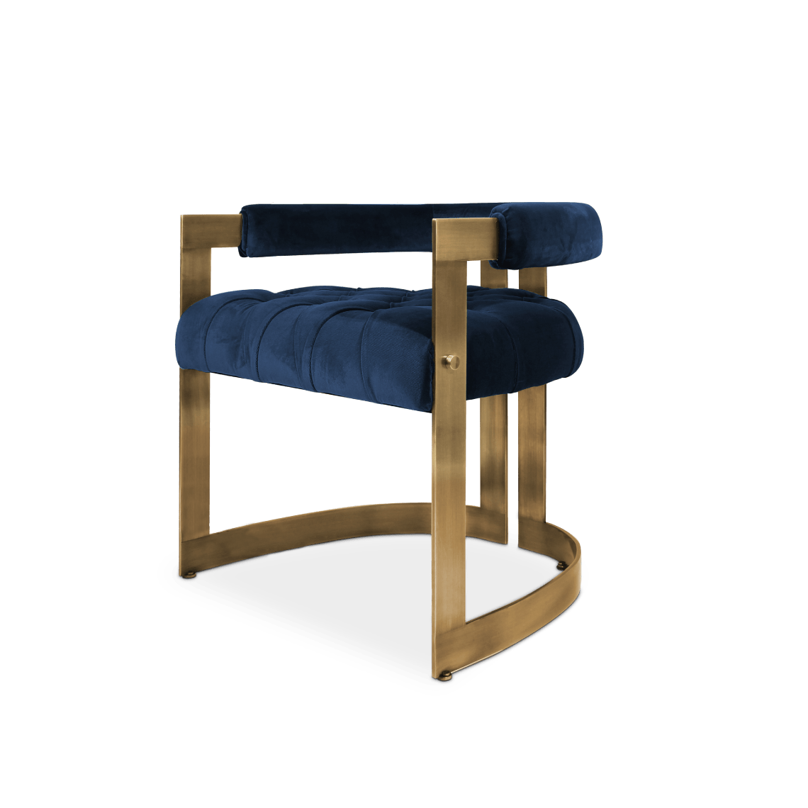 Winfrey Mid-Century Modern Dining Chair in classic cotton velvet