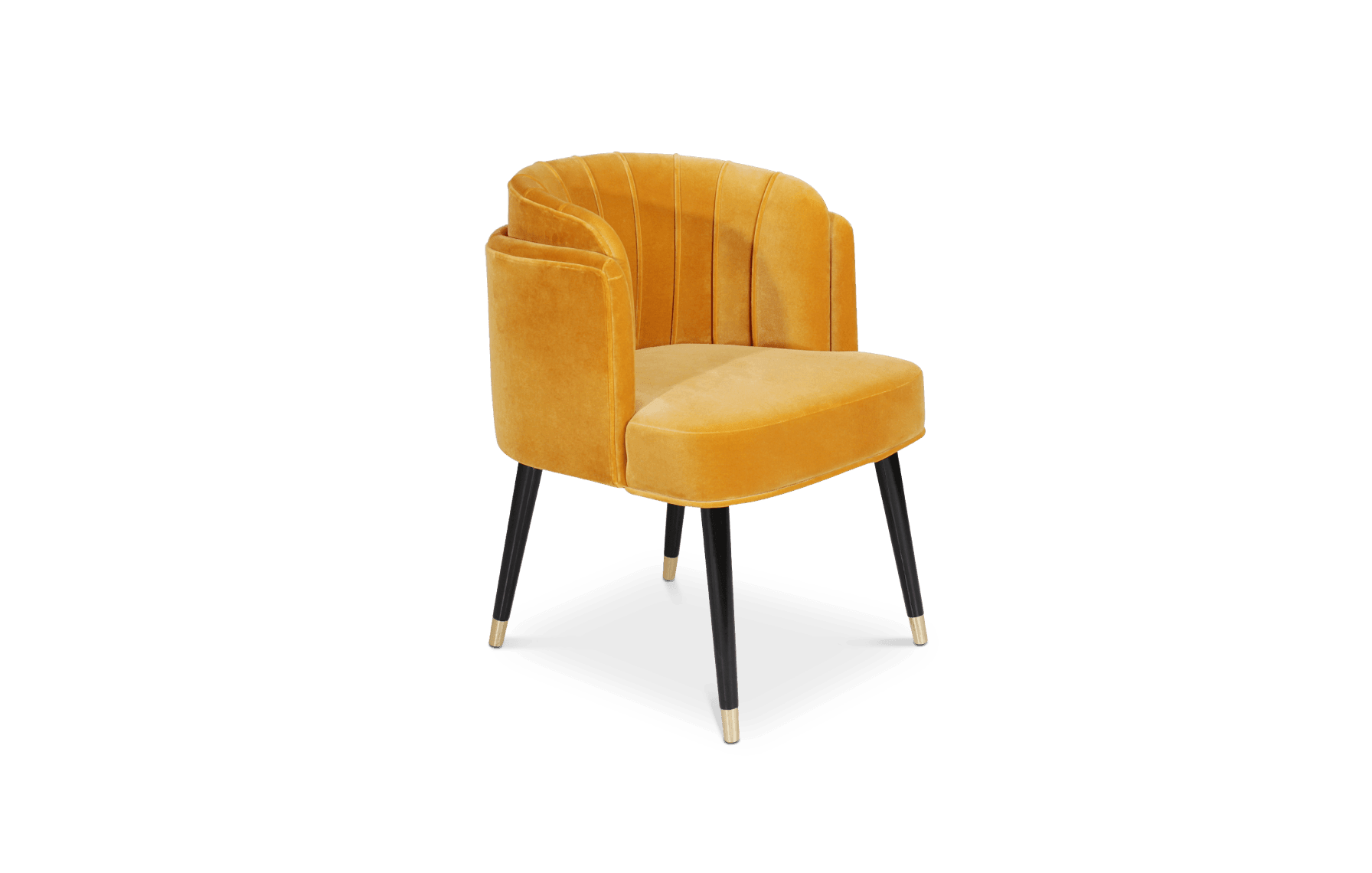 Anita Dining Chair in Yellow Suede