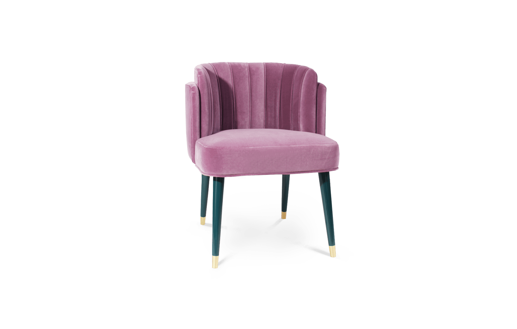 Anita Dining Chair in Pink Purple Suede