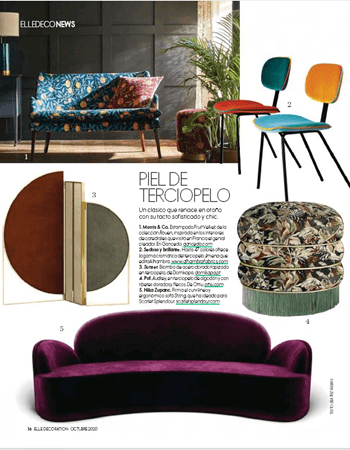 Audrey Stool at Elle Decoration Spaim September 2020