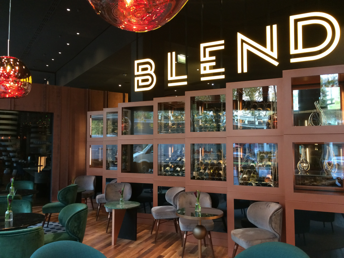 Blend restaurant at Pullman Berlin Schweizerhof with Louis Bar, Louis Dining and Winfrey Dining by Ottiu