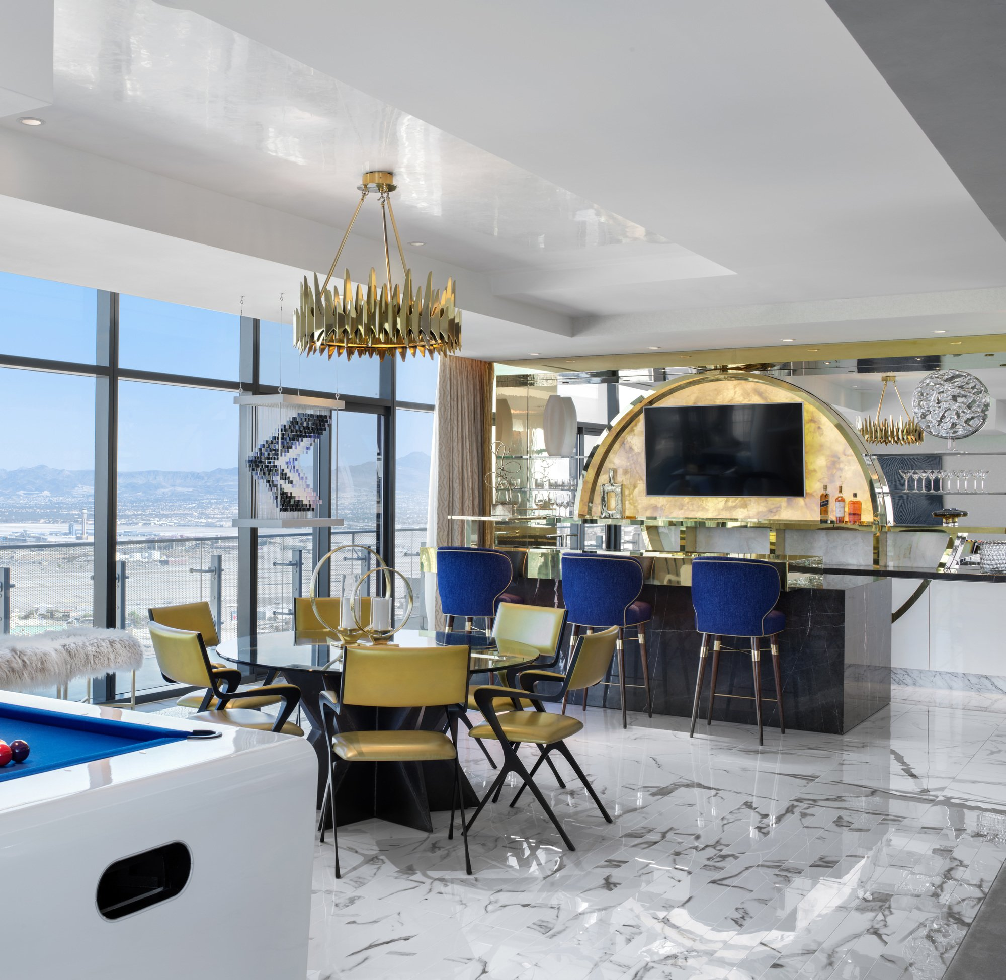 Cosmopolitan Hotel - Las Vegas, USA with Louis Bar Chair by Ottiu