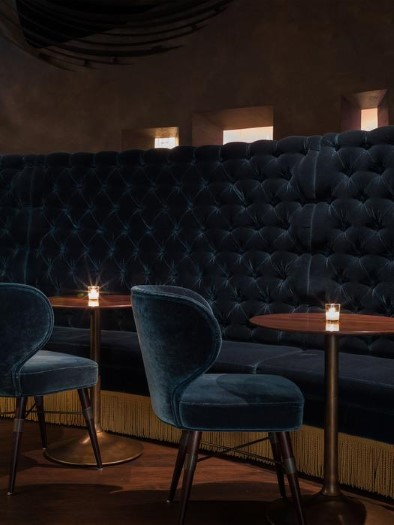 Deep Dive Restaurant with Louis Bar Chair and Louis Dining Chair by Ottiu