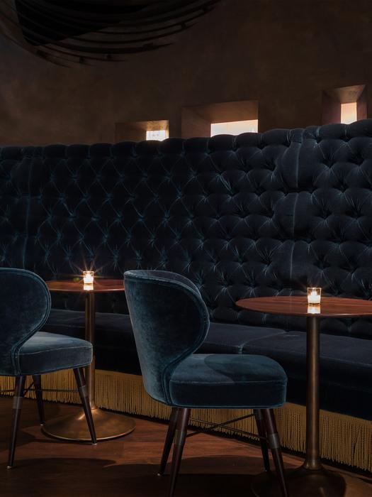 Louis Dining Chair in Deep Dive Bar - Interior Design