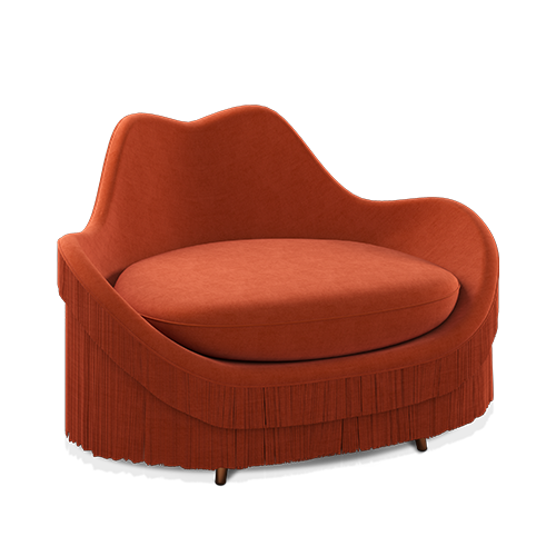 Jeane Armchair with fringes
