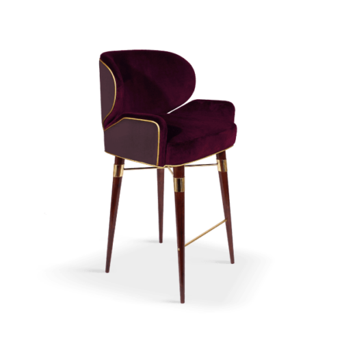 Louis I Mid-Century Bar Chair