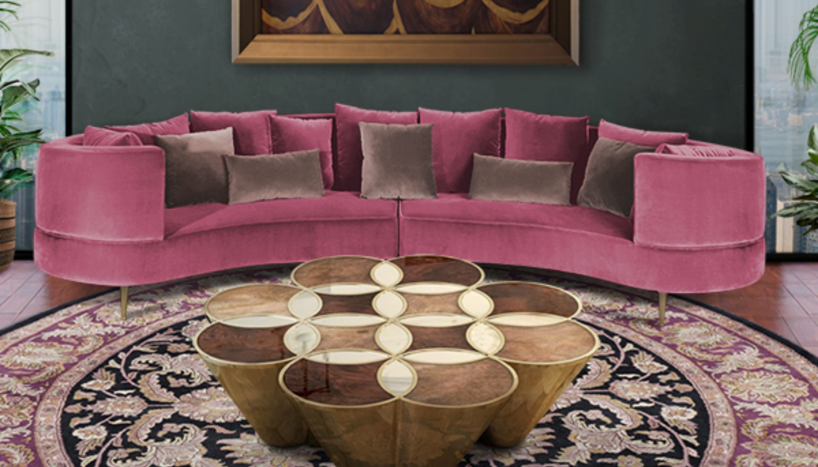 Curved Sofas You'll Love - Margret Sofa