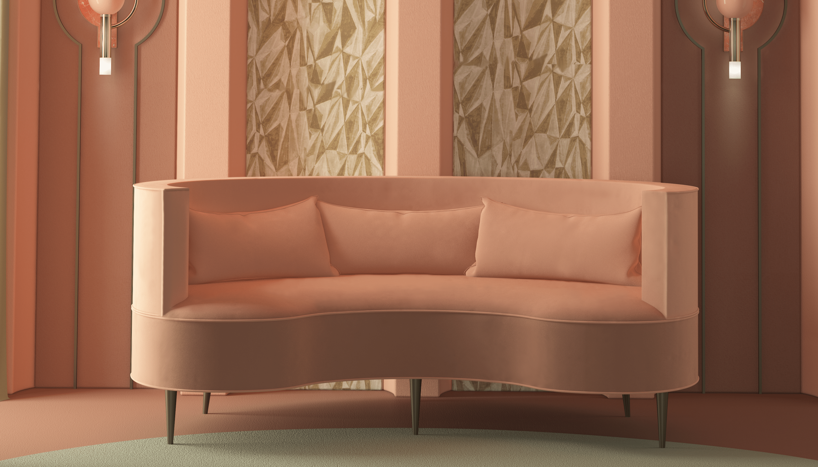 Curved Sofas You'll Love - Margret Twin Seat
