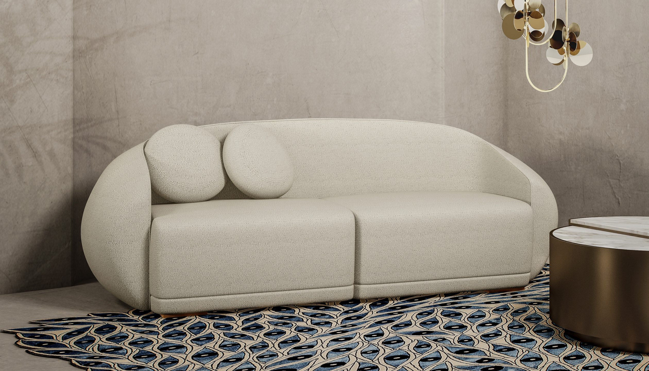 Curved Sofas You'll Love - Peggy Sofa