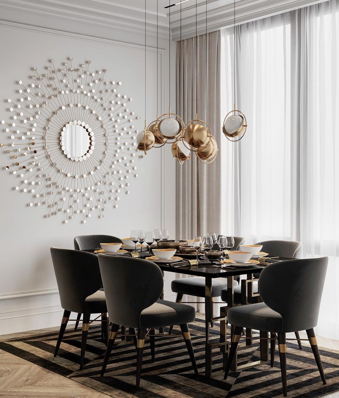 Residential Project Moscow, Russia - Louis Dining Chair