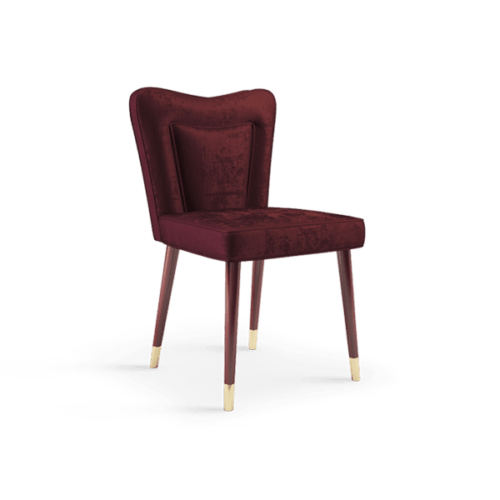 Ruby Mid-Century Dining Chair