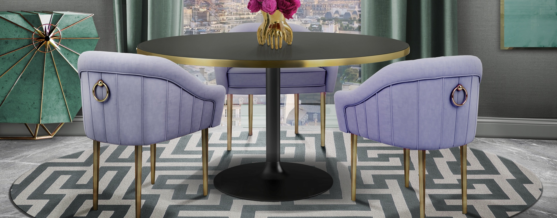 Velvet Chairs That Never Go Out Of Style - Katharina Dining Chair