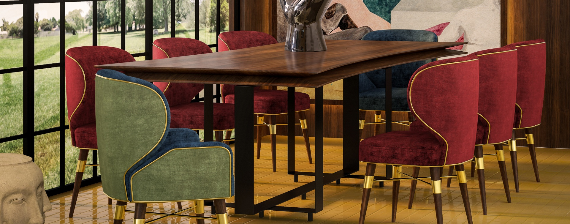 Velvet Chairs That Never Go Out Of Style - Louis Dining Chair